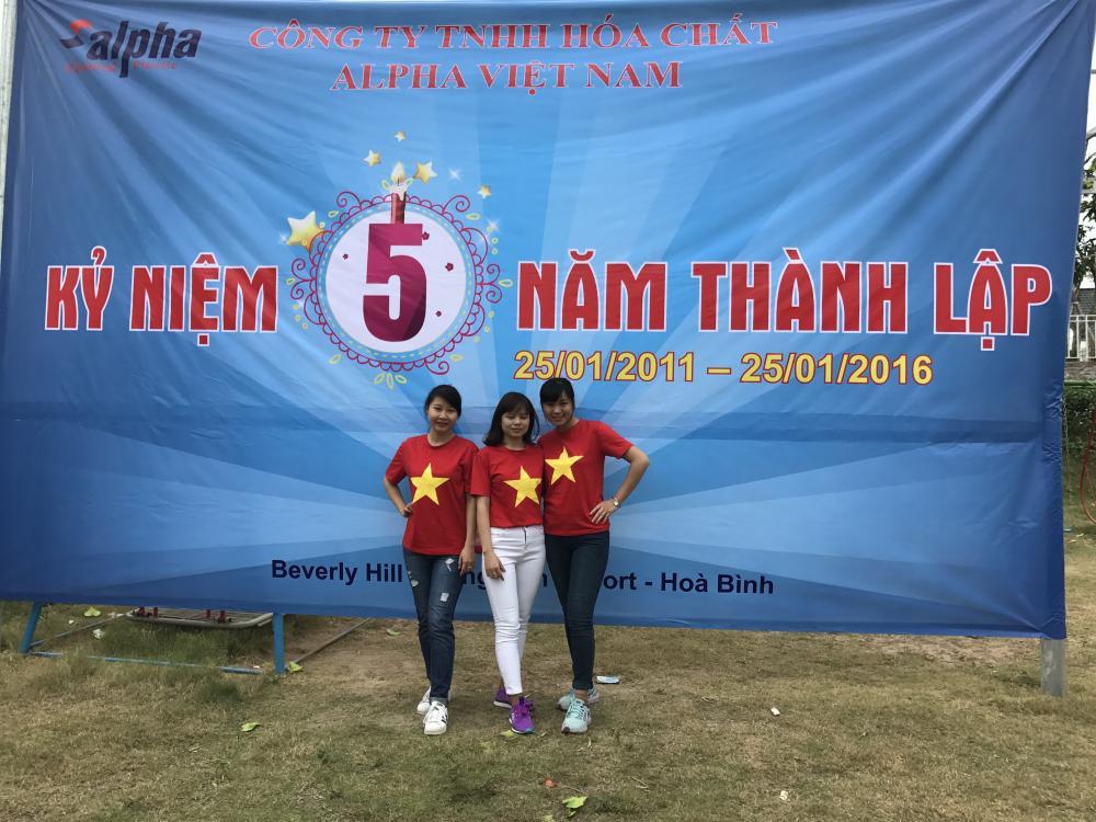 Ảnh: Kỉ niệm 5 năm thành lập công ty TNHH Hóa chất Alpha Việt Nam, 25/01/2011-25/01/2016