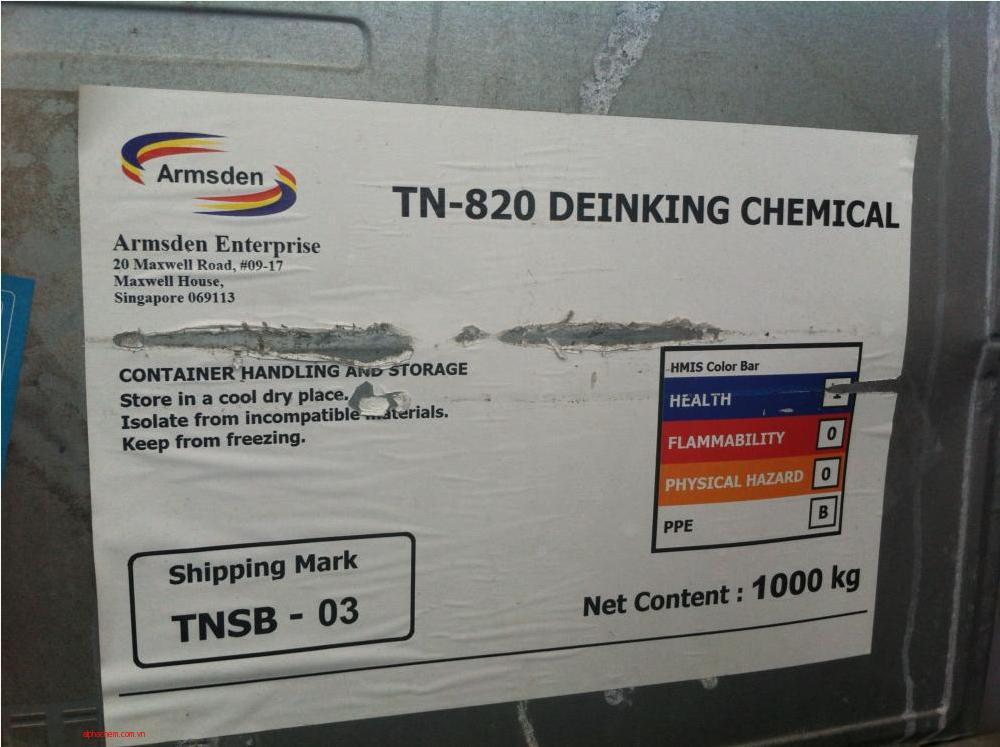 Chất khử mực TN-820; 1000kg/thùng