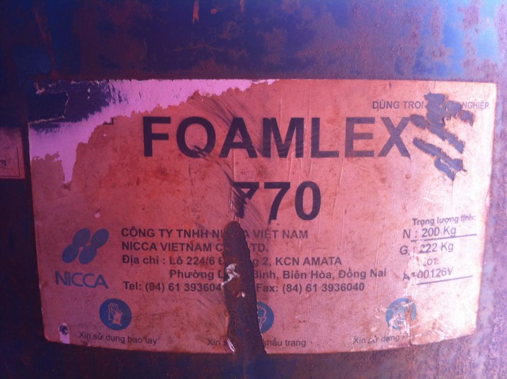 Chất phá bọt Foamlex 770; 200kg/thùng