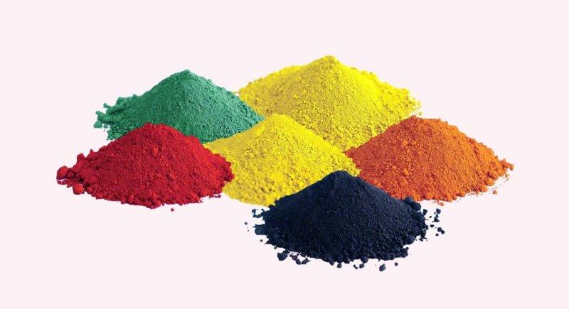 Các loại Ôxít sắt ( đỏ, vàng, xanh, đen...)